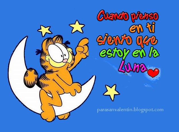 Imágenes De Garfield Con Frases Imagenes De Amor Para
